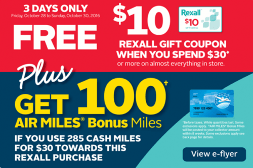 Rexall Pharma Plus Drugstore offers at Smartcanucks.ca Deals
