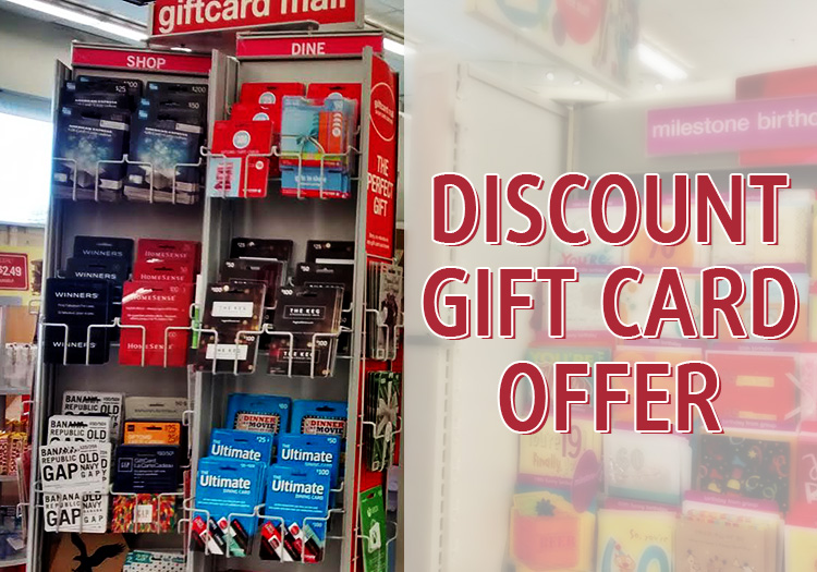 SC Official Discount Gift Card Offers SmartCanucks Cheap Gift Cards Canada