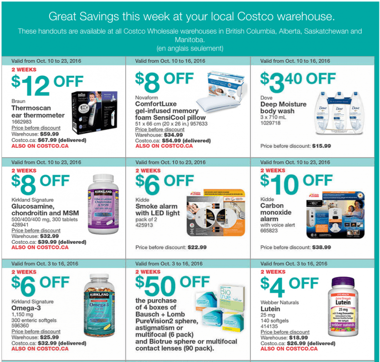 costco canada weekly instant handouts coupons