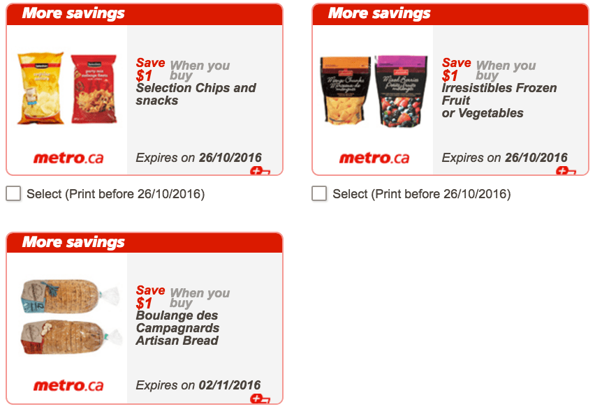 Metro Ontario Canada Exclusive Printable Coupons, October 20 to 26