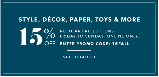 Indigo Canada Weekend Online Promo Code Offers: Save 15% Off Regular-Priced Toys, Decor, Style, Paper & More October 21 to 23