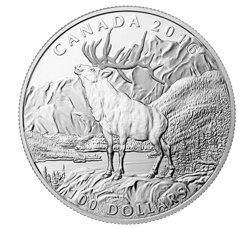 Royal Canadian Mint Deals: $25 for $25 Fine Silver Coin Woodland Elf + $100 for $100 Fine Silver Coin The Elk + Free Shipping!