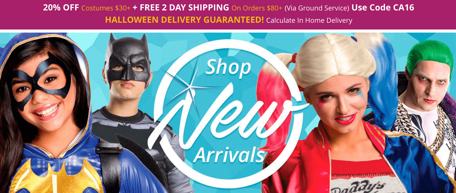 Costume Supercentre Canada Halloween Deals: Save 20% Off $30 + Free 2 Day Shipping on Orders $80+