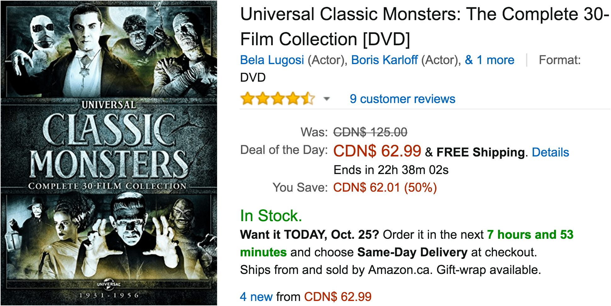 Amazon Canada Deals Of The Day: Save 50% On Select Halloween Movie Collections & More Deals