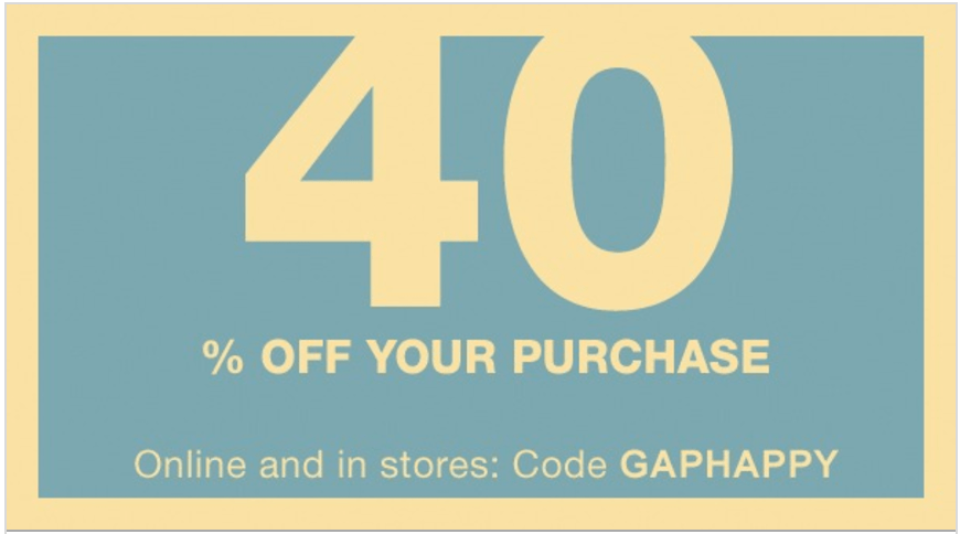 Gap Canada Flash Sale: Save 40% Off Your Purchase with Promo Code, Today Only