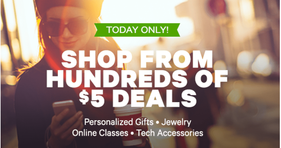 Groupon Canada $5 Deal Day: Get Hundreds of $5 Deals, Today Only !