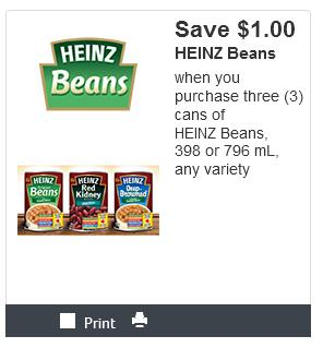 Kraft Canada Coupons: Save $1 When You Purchase Three Heinz Beans *Printable Coupon*