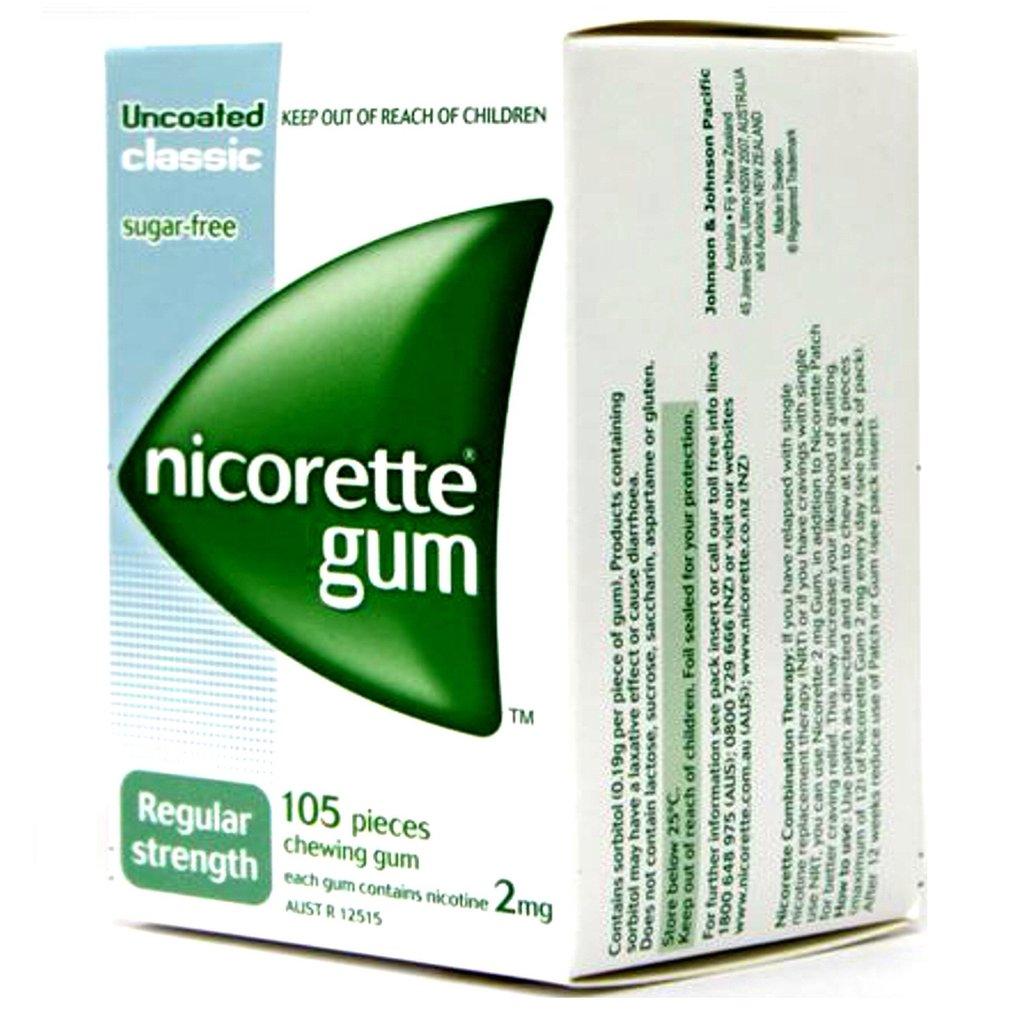 Free samples nicorette gum.