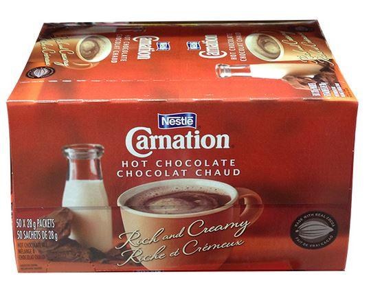 carnation hot chocolate 50 pack bulk buy