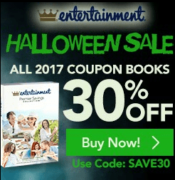 Entertainment Book Canada Halloween Sale: Save 30% Off All 2017 Books & Annual Digital Membership + Free Shipping!