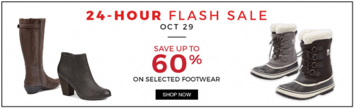 sears Canada Flash Sale 60% off selected footwear at Smartcanucks.ca