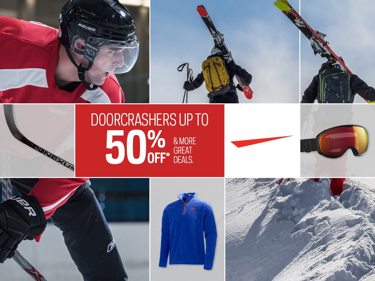 Sport Chek Canada Deals: Save Up to 50% Off Equipment + 25% Off Fan Wear + FREE Shipping + More!
