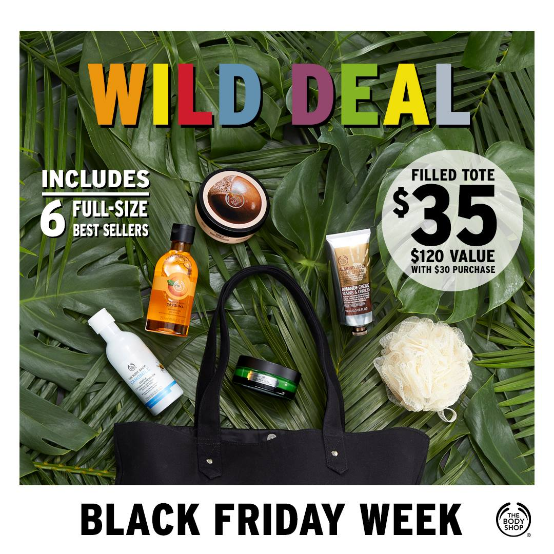 The Body Shop Canada Black Friday Deals: $5 Gift Cubes + Mix & Match Sale + More!