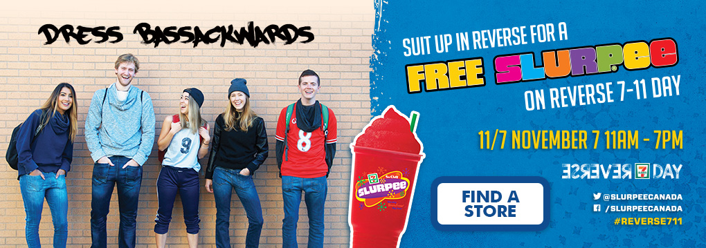 7-Eleven Canada Promotions: FREE Slurpee on Reverse 7-11 Day Today!