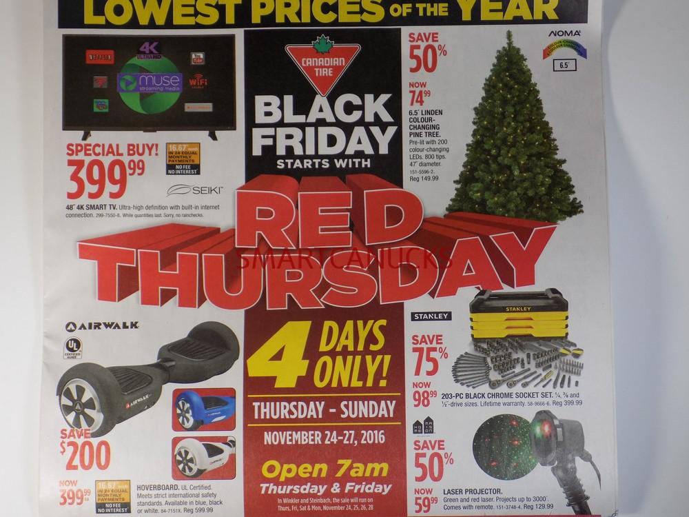 Canadian Tire Black Friday 2016 Red Thursday Flyer Sneak Peek