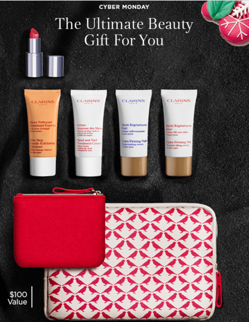 Clarins Canada FREE Cyber Monday Beauty Gift Offer: FREE 7-Piece (A $100 Value) with Promo Code!