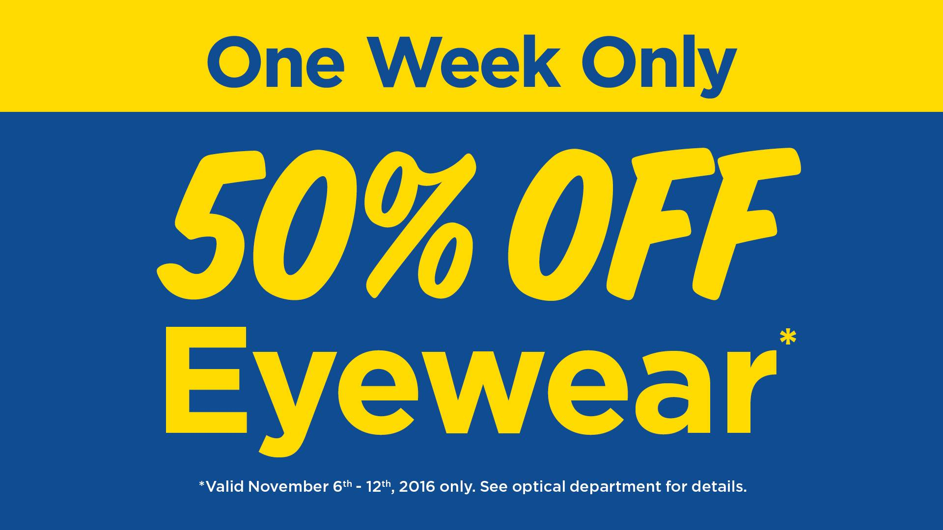 Real Canadian Superstore Optical Department Offers: Save 50% off Eyeglasses, Sunglasses & Accessories + 15% Off Contact Lenses!
