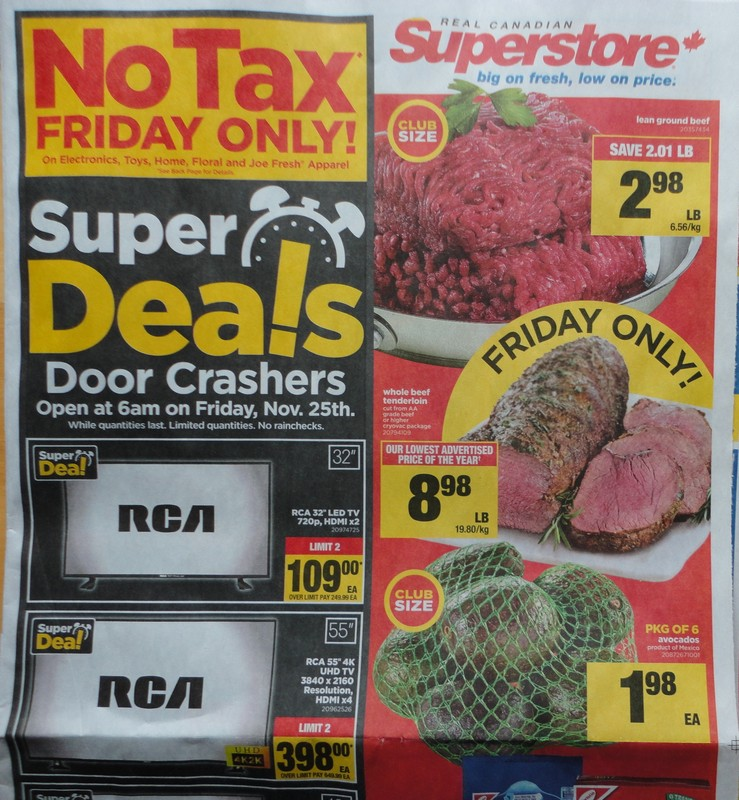 RCSS Real Canadian Superstore Ontario No Tax Black Friday