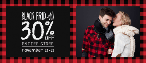 Roots Canada Black Friday 2016 Sale *LIVE*: Save 30% Off Sitewide + 24 Hour Offers: 40% Off Fleece Hoodies!