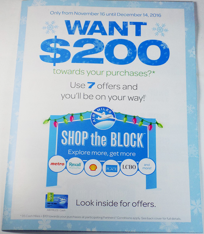 Air Miles Canada Shop The Block Holiday Promo – Get Up To $200 in Air Miles