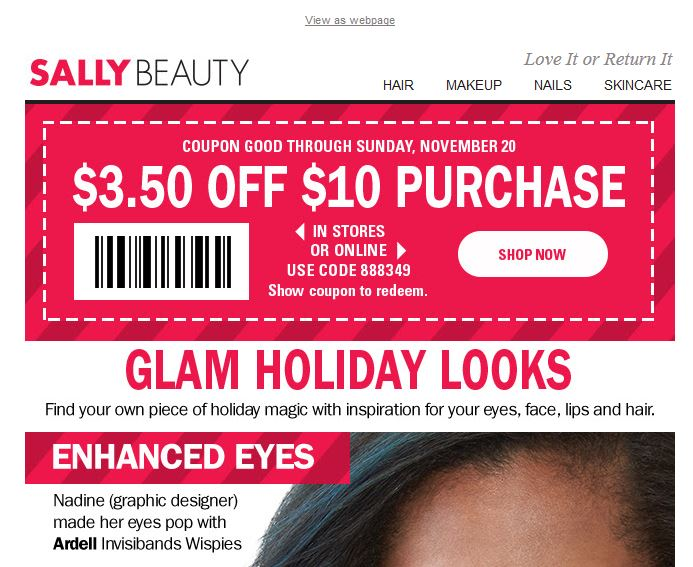 Discount beauty coupon