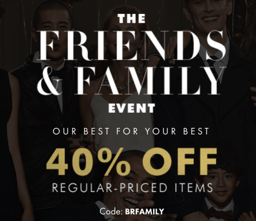 Banana Republic Canada Friends and Family Event Sale: Save 40% Off with Promo Code