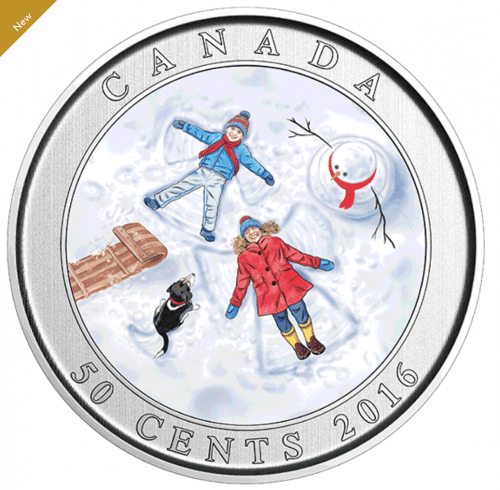 Royal Canadian Mint Deal: New 2016 3D Snow Angels Coin