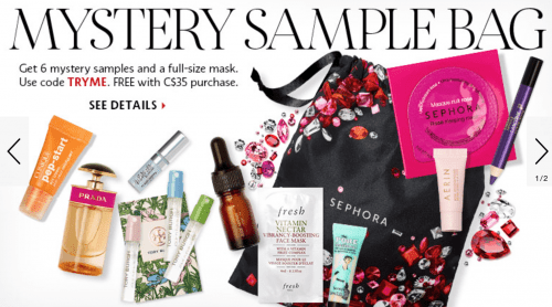 Sephora Canada Offers: Free Mystery Sample Bag Using Promo Code