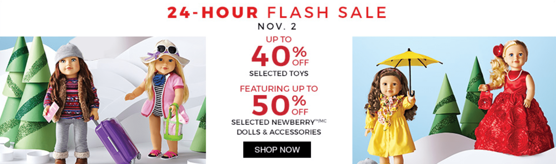 Sears Canada 24-Hour Flash Sale: Save Up to 40% Off Toys and Up to 50% Off Newberry Dolls