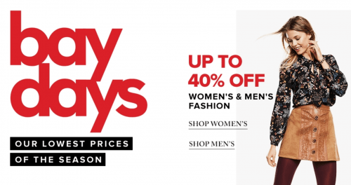 Hudson's Bay Canada Promo Code Deal: Save an Extra 15% Off Almost Everything, Including Sales & Clearance!