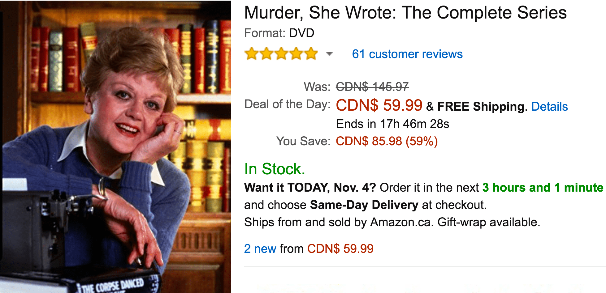 Amazon Canada Black Friday Deals Week: Today, Save 59% On Murder, She Wrote: The Complete Series, 53% Off Select Mega Bloks Building Sets & More Offers