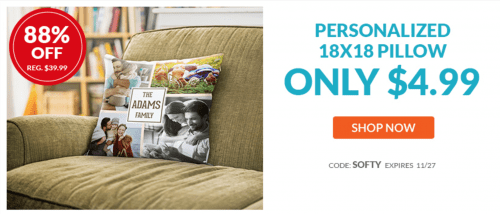 York Photo Canada Deals: Save 88% Off Personalized Pillow + 67% Off Customized Blanket
