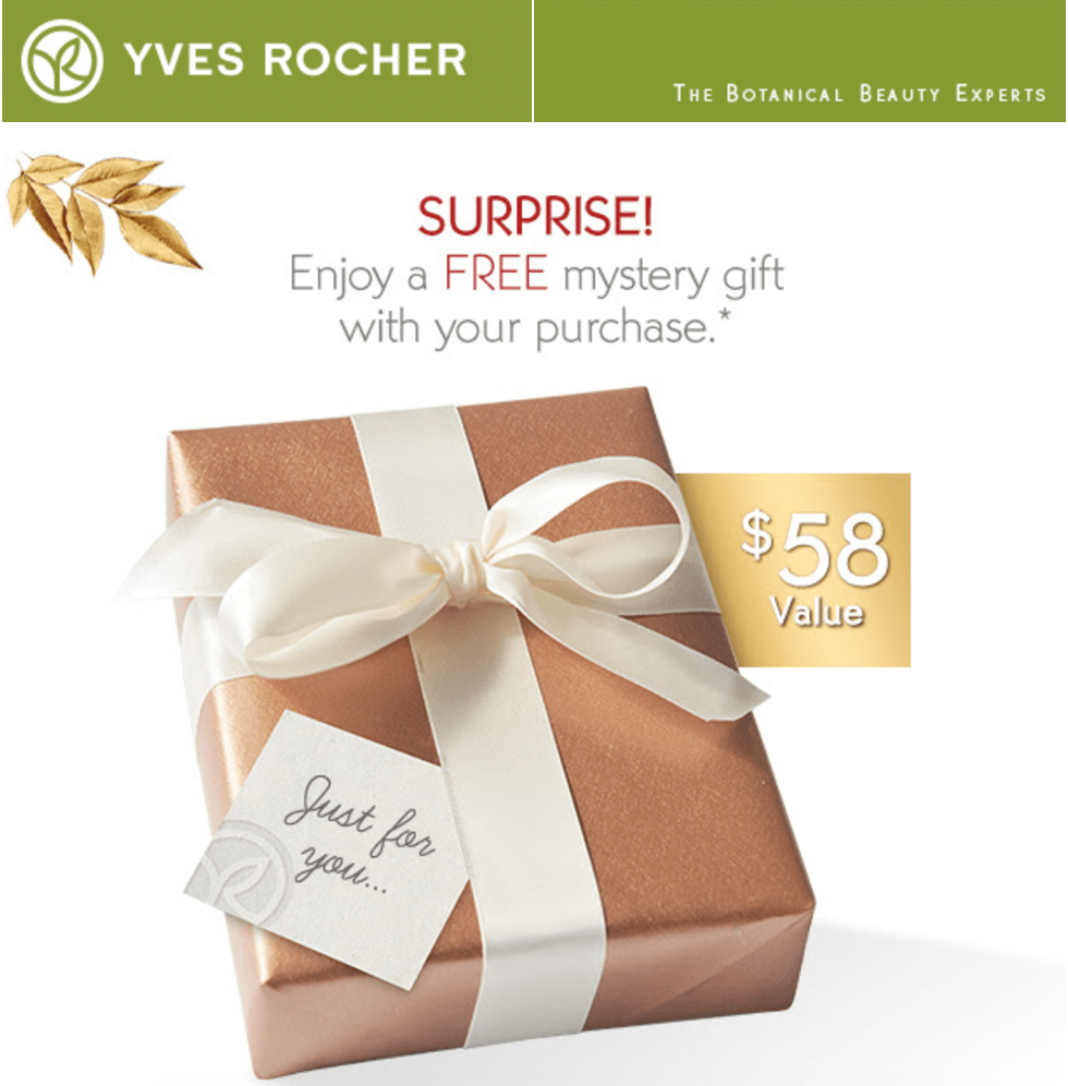 Yves Rocher Canada Freebies: FREE Gift (Value $58) with Your $10 Purchase