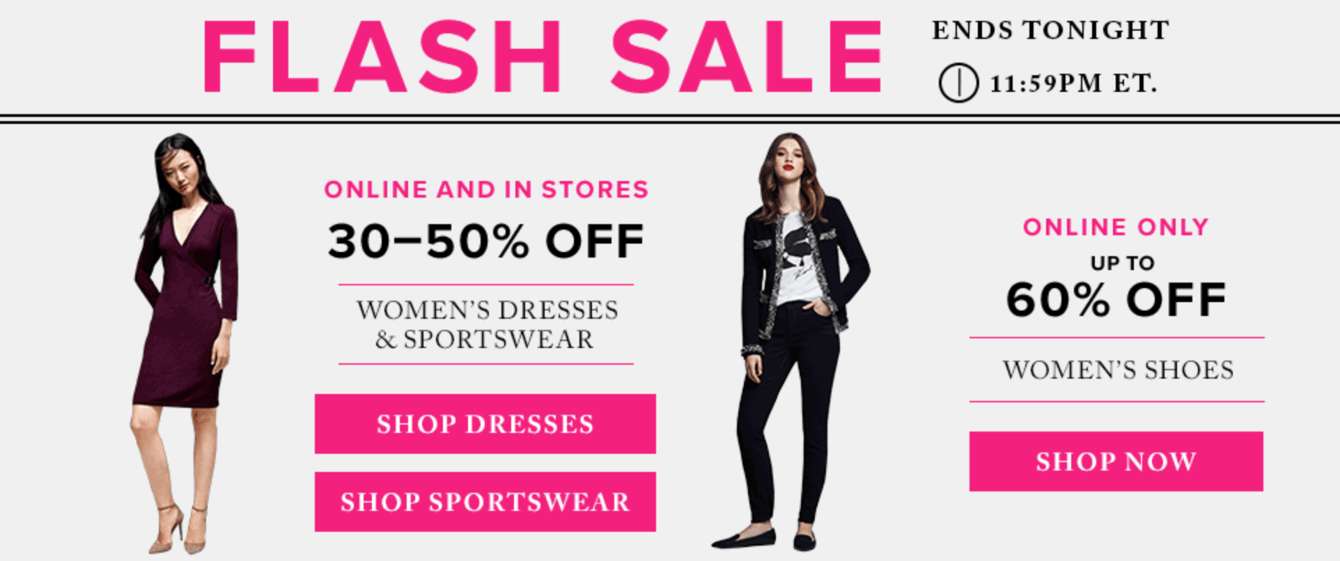 Hudson's Bay Canada Flash Sale: Save Up to 60% Off Shoes + 30% to 50% Off Dresses & Sportswear