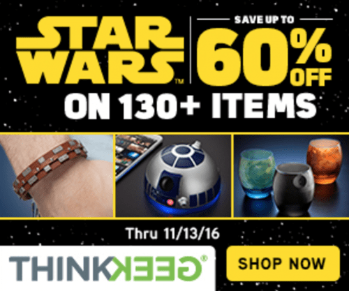 Think Geek Canada Sale: Save Up to 60% Off Star Wars Items