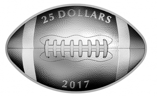 Royal Canadian Mint Deals: New 2017 Pure Silver and Gold Football-Shaped Coins!