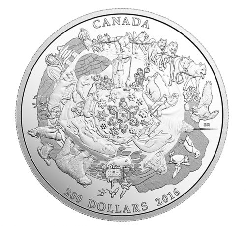 Royal Canadian Mint Deals: $200 for $200 Pure Silver Coin of Canada's Icy Arctic