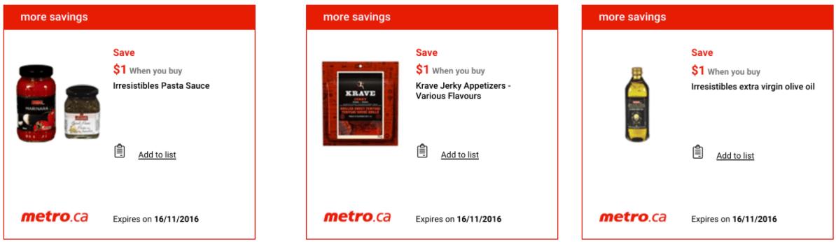 Metro Ontario Canada Exclusive Printable Coupons, November 10 to 16