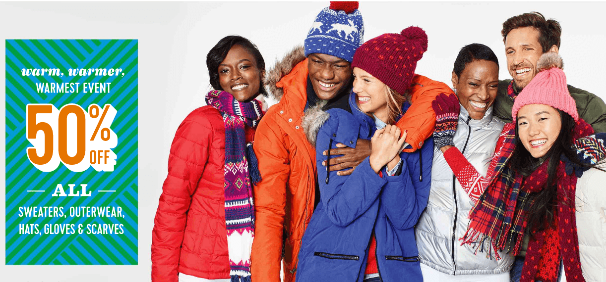 Old Navy Canada Sale: Save 50% Off All Hats, Sweaters, Outerwear, Gloves & Scarves + More Online Deals