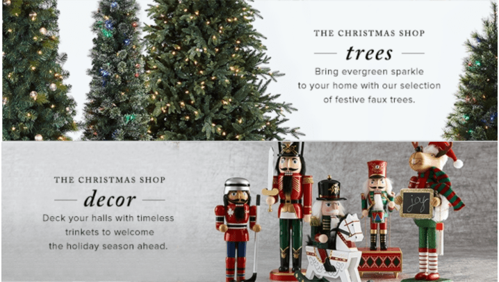 Hudson's Bay Canada Offers: Save 50% Off Christmas Trees, 30% Off Christmas Decor + Extra 15% Off with Promo Code