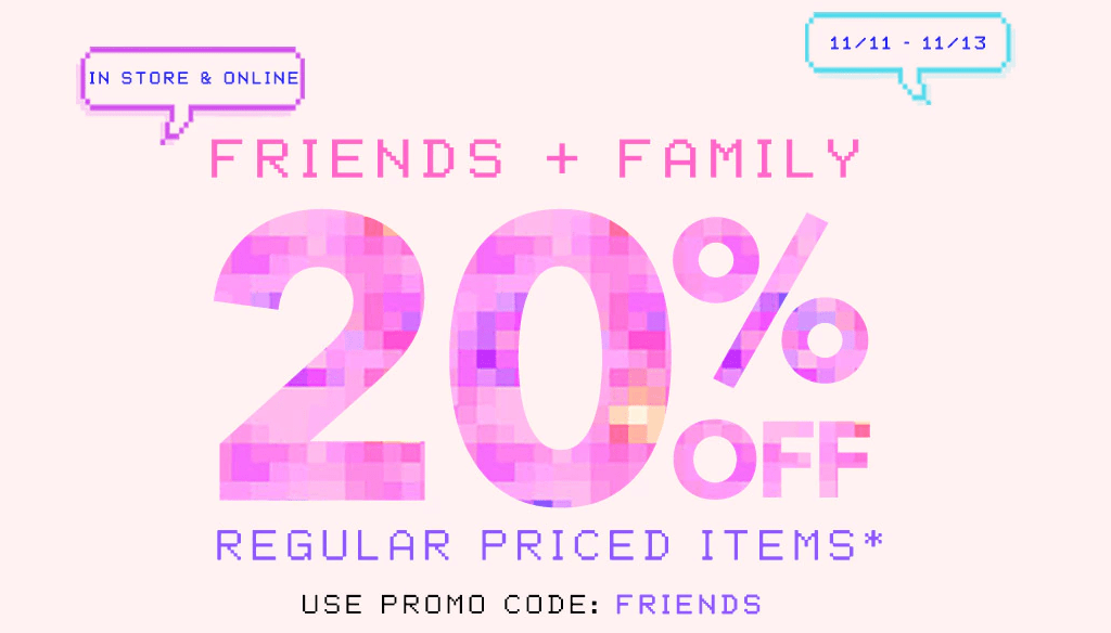 Forever 21 Canada Friends & Family Sale Event Save 20% Off with Promo Code