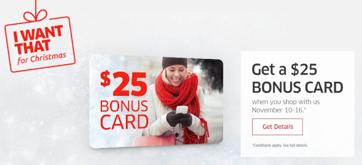 The Source Canada Offers: FREE $25 Bonus Card