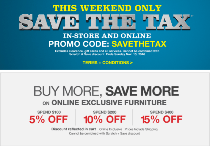 Lowe's Canada Tax Event: Save The Tax with Promo Code + Buy More, Save More Sale!