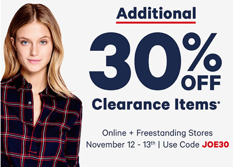 Joe Fresh Canada Promo Code Offers: Save Additional 30% Off Clearance Items, Items from $2.75 + BONUS Get a FREE Scarf with Your Purchase!