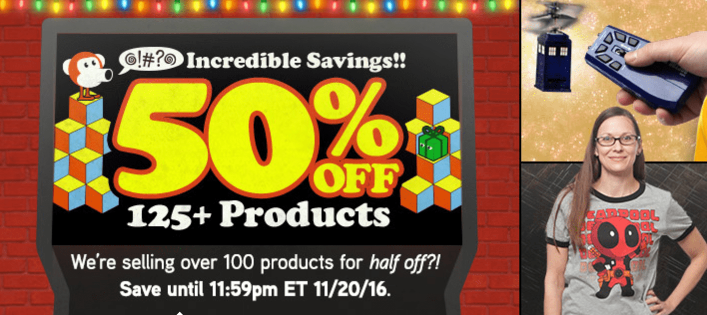 Think Geek Canada Sale: Save 50% Off Many Items!