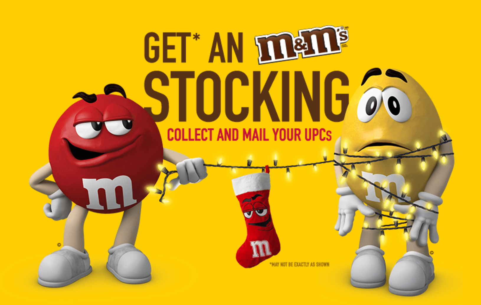 M&M's Canada Deal: Get a FREE Christmas Stocking When You Mail Your UPCs!