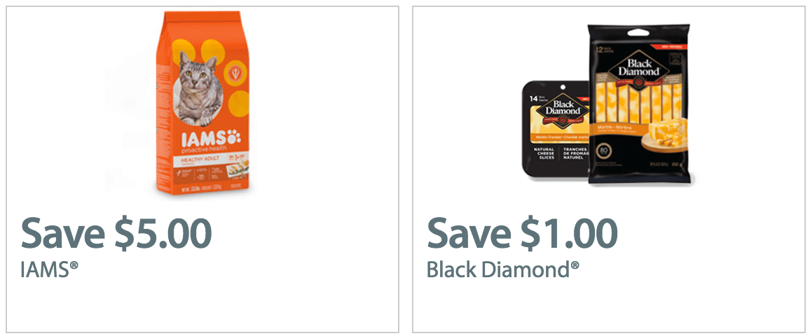Walmart Canada Coupons: Save $1.00 Off Any Black Diamond Natural Cheese Slices or Sticks & $5.00 Off Iams Dry Cat Food (by Mail or Print)