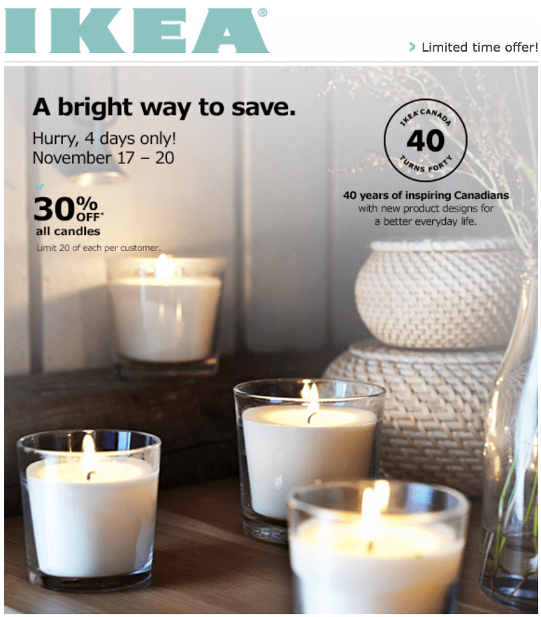 IKEA Canada Pre Black Friday Christmas Sale: Save 30% Off All Candles & Holders!