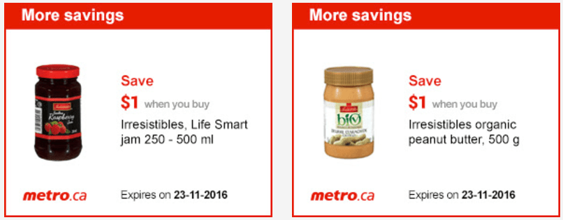 Metro Quebec Canada Exclusive Printable Coupons, November 17 to 23
