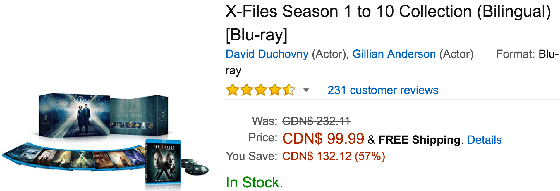 Amazon Canada Black Friday Deals: Save 57% On X-Files Season 1 to 10 Collection, 50% on Select Merrell Styles & More Offers